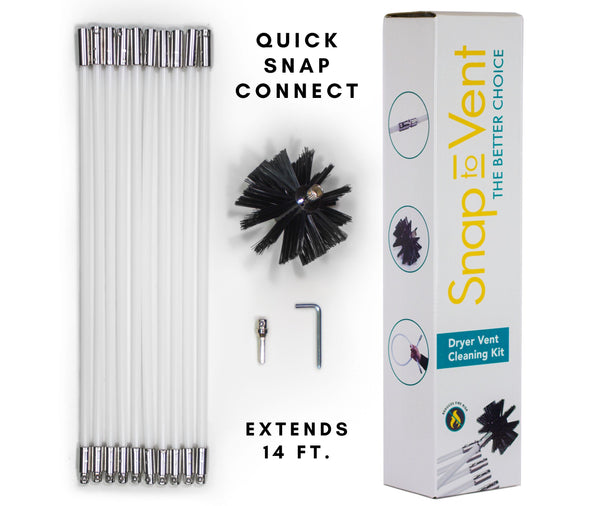 Snap to Vent Dryer Vent Cleaning Kit 14 ft.