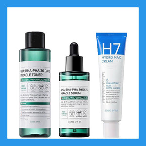 AHA-BHA-PHA 30 days Miracle Set H7 Line #Toner + Serum + H7 Cream