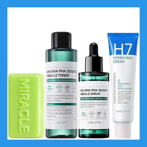 Miracle Advanced Set #Soap + Toner + Serum + H7 Cream