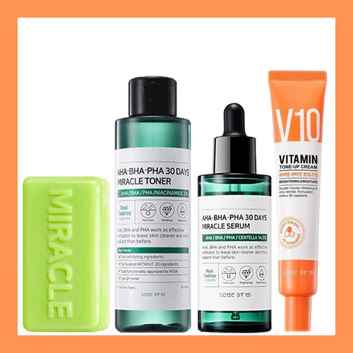 Miracle Set V10 Line #Soap + Toner + Serum + V10 Cream