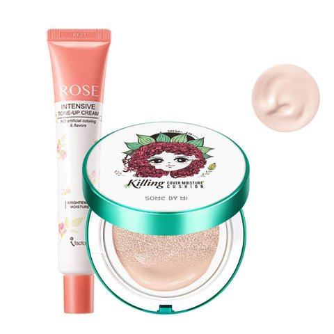 Full Matte Makeup Basic Set #Whitening Cream + Cushion #23 Medium Beige