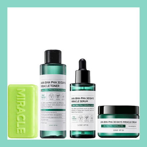 Miracle Pure Set #Soap + Toner + Serum + Cream