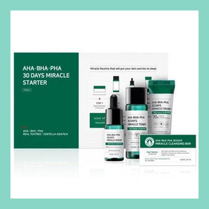 SOME BY MI AHA/BHA/PHA 30 Days Miracle Starter Kit (Soap + Toner + Serum + Cream)