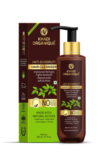 KHADI ORGANIQUE Anti-Dandruff Hair Cleanser with Curry leaf