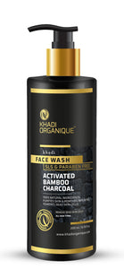 KHADI ORGANIQUE Active Bamboo Charcoal Face Wash