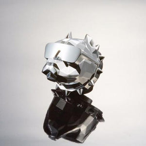 Cool Car Freshener Made in Korea DE:BULL. Chrome Silver #White Rose