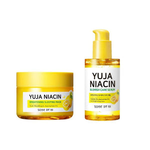 Overnight Skin Brightening Yuja Niacin Brightening Sleeping Mask + Blemish Care Serum