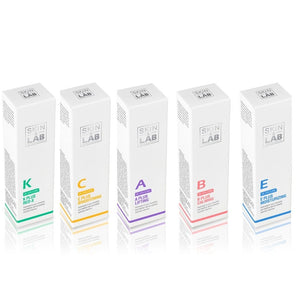 Skin & Lab All Vitamins Ultimate Cream Set - A Plus +B Plus +C Plus +E Plus +K Plus Vitamin Creams