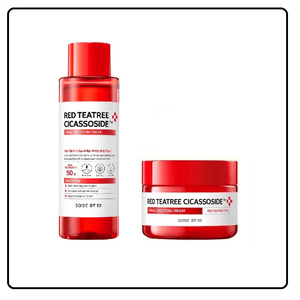 SOME BY MI Red TeaTree Cicassoside Pure Set- Toner + Cream