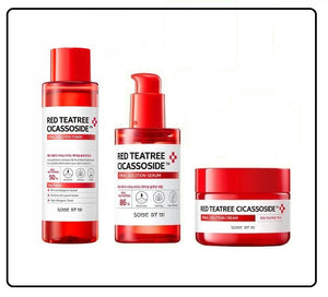 Sensitive Skin SOME BY MI Red Tea Tree Cicassoside Ultimate Solution Set- Toner +Serum +Cream