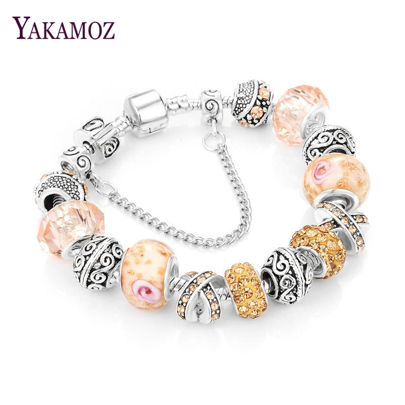 European Ribbon Charm Bracelet