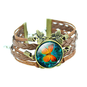 Classic Butterfly Bangle Bracelets