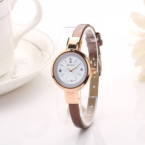 Gold Slim Band Watch