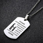 To My Daughter Pendent Necklace