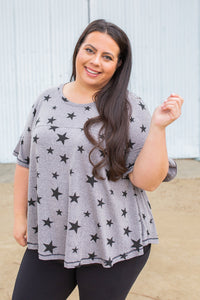 Starry Night Short Sleeve Top