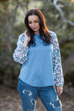 Delightfully Spotted Raglan Top
