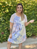 Unicorn Tie Dye Raglan Dress