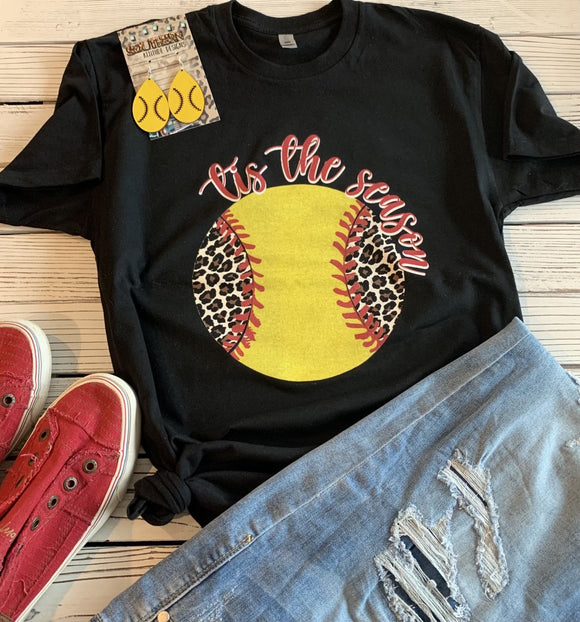 Tis The Season Softball tee - Ships in 1-2 Weeks