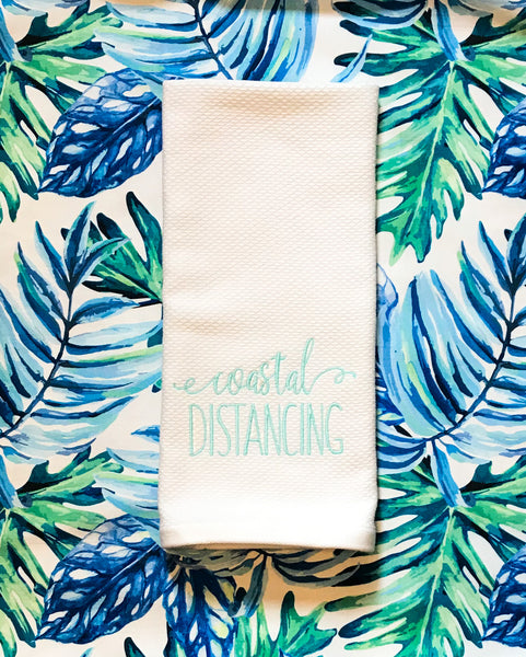 Coastal Distancing Kitchen Towel