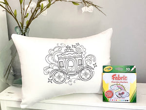For A Cause Coloring Princess Carriage Pillow