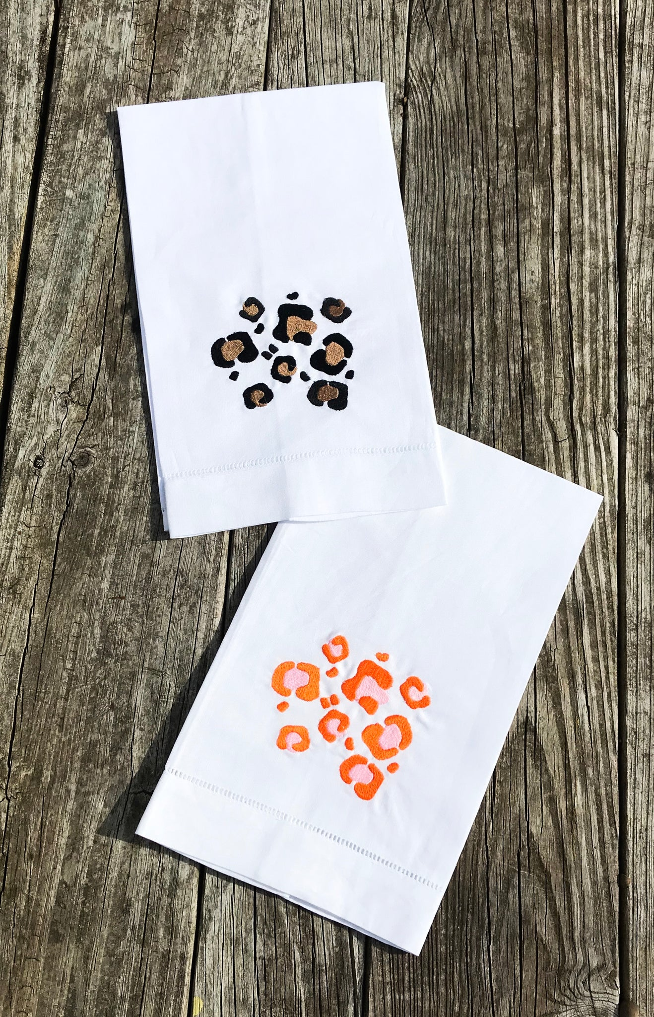 Cheetah Print Linen Towel