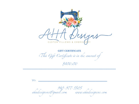 AHA Designs Gift Card