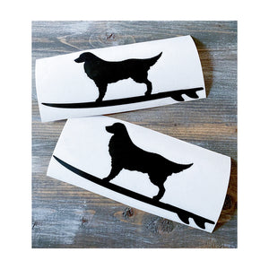 Loop Dog on Surfboard Decal