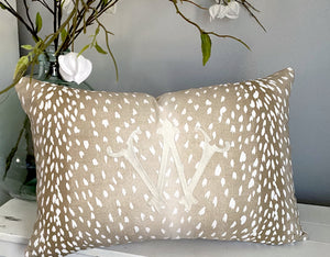 Jamison Kidd- Embroidered Pillow