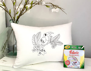 For A Cause Coloring Toucan Pillow