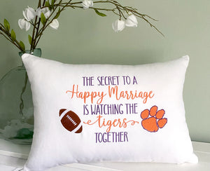 Secret to Marriage Team Pillow