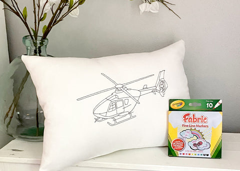 For A Cause Coloring Helicopter Pillow