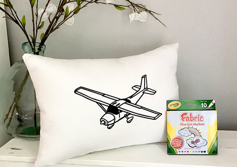 For A Cause Coloring Airplane Pillow