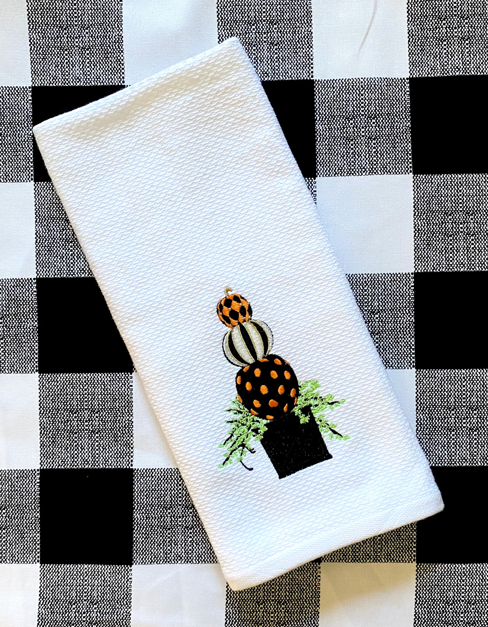 Pumpkin Topiary Kitchen Towel