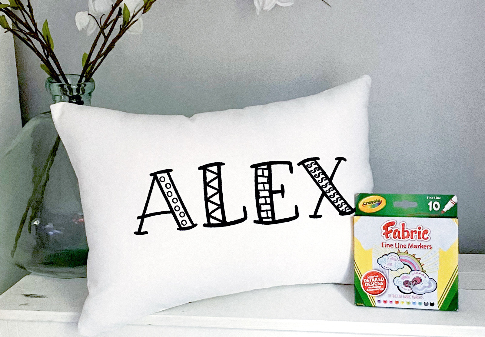 For A Cause Coloring Name Pillow