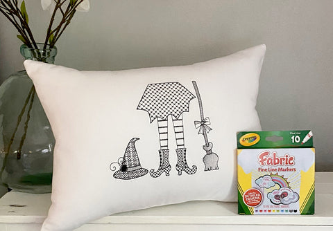 For A Cause Coloring Halloween Witch Pillow