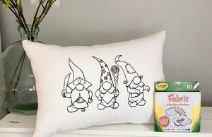For A Cause Coloring Halloween Gnome Pillow