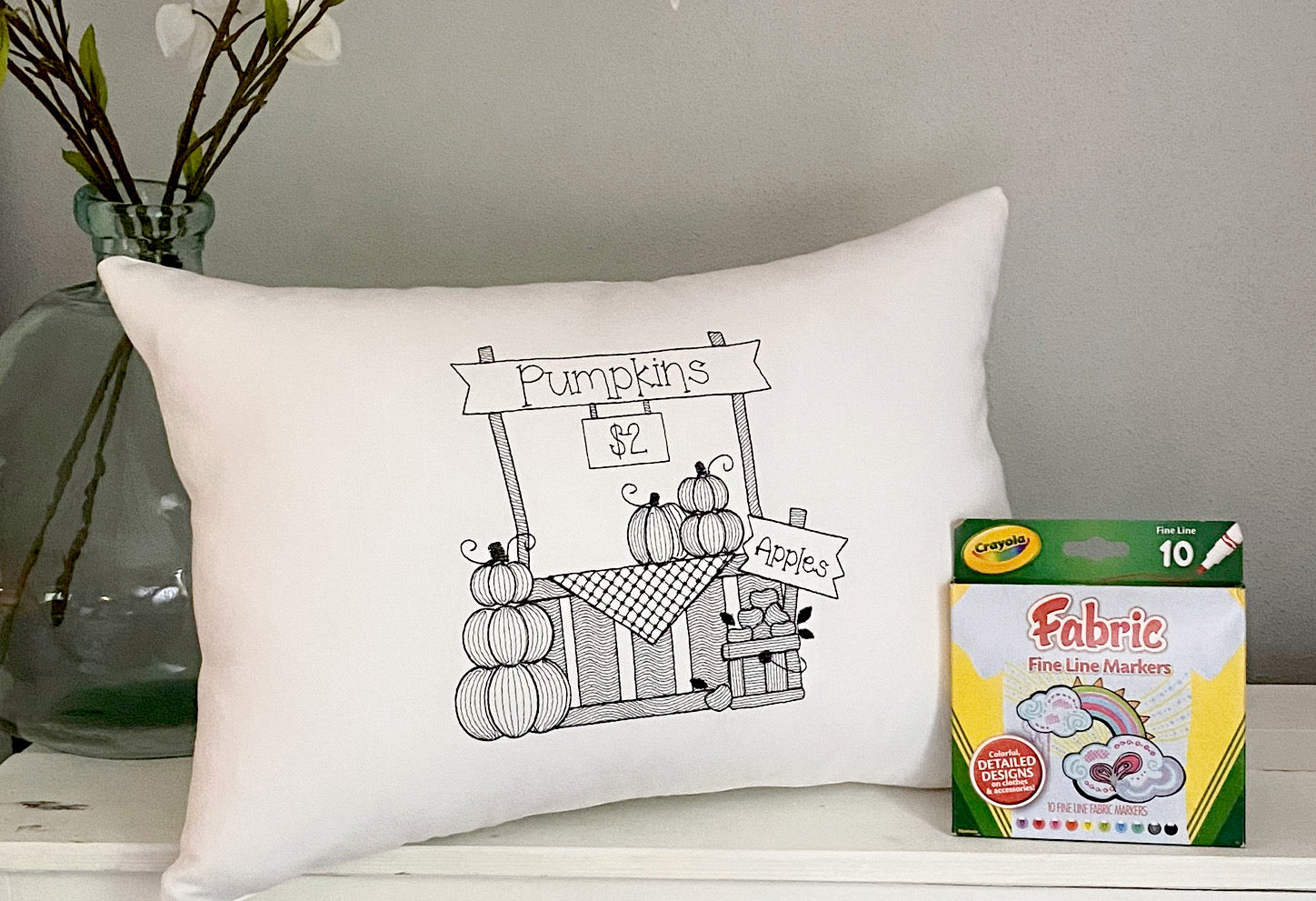 For A Cause Coloring Halloween Pumpkin Patch Pillow
