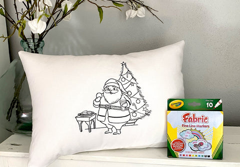 For A Cause Coloring Santa's Cookies Pillow