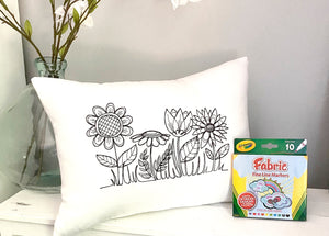 For A Cause Coloring Flower Pillow