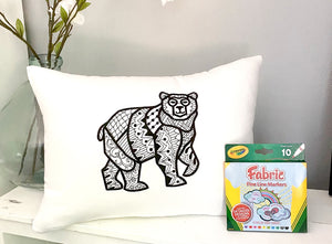 For A Cause Coloring Bear Pillow