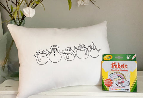 For A Cause Coloring Snowmen Pillow