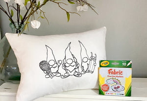 For A Cause Coloring Winter Gnomes Pillow
