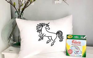 For A Cause Coloring Unicorn Pillow