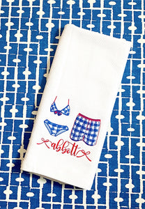 Valentine Girl Golden Retriever Kitchen Towel