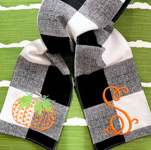 Pumpkin Wreath Sash