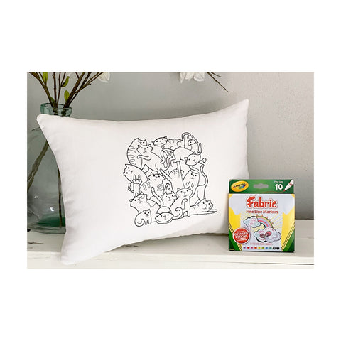 For A Cause Coloring Cat Pile Pillow
