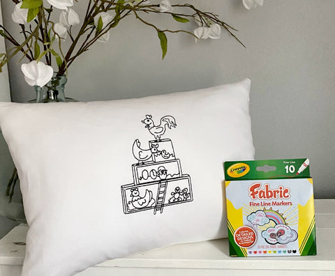 For A Cause Coloring Chicken Coop Pillow