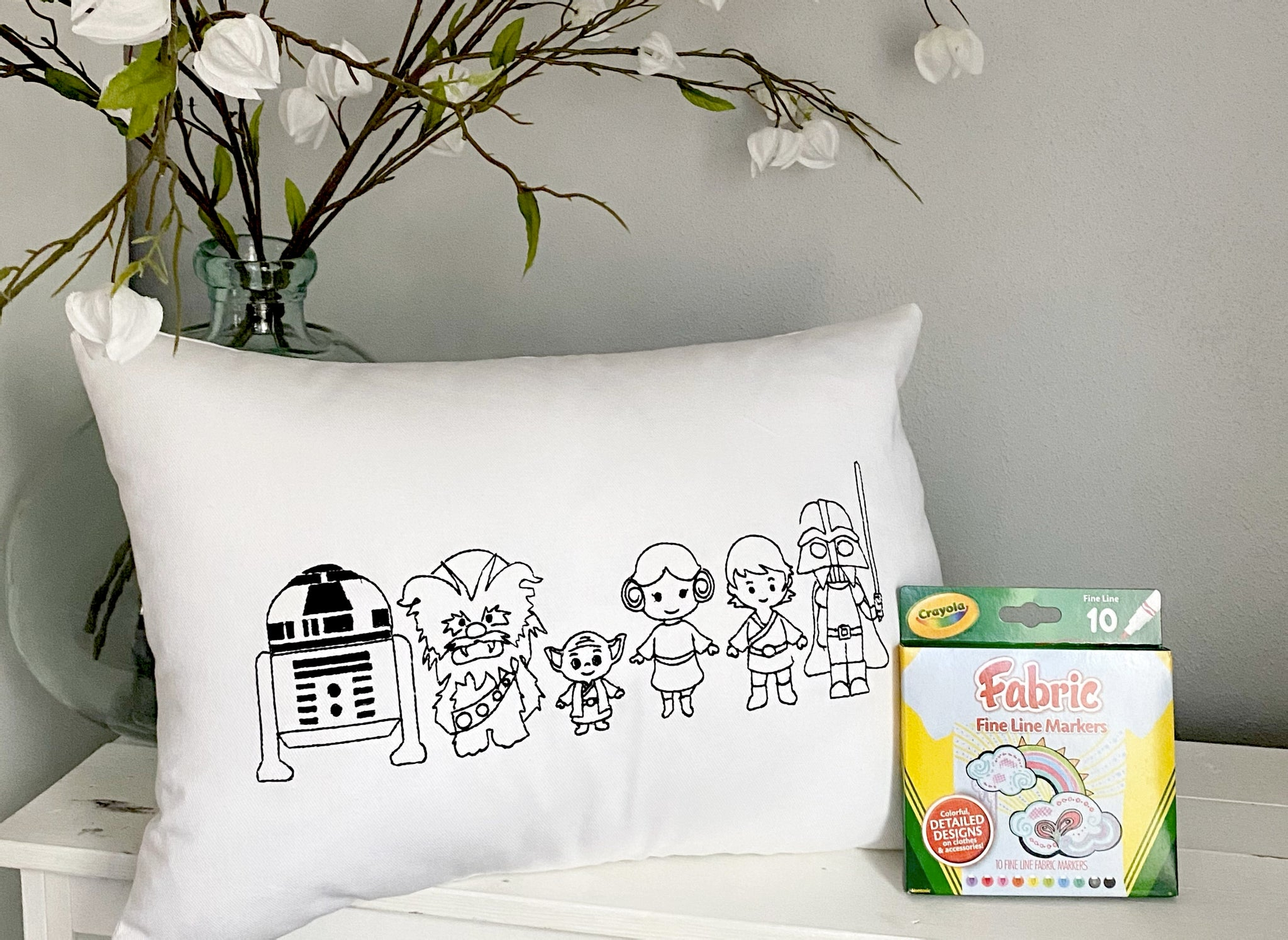 For A Cause Coloring Space Friends Pillow