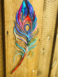 Peacock Feather Metal Wall Art