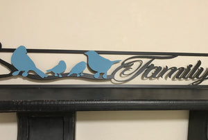Family Bird Sign- Family of 4